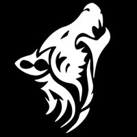 HotMeiNi Wholesale Lonely Wolf Howl Called Totem Car Sticker SUV Window Bumper Door Kayak Canoe laptop Home Car Decor Decalque de vinil 13 Cor
