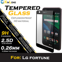 Wholesale Glossy Print - Full cover flat screen printing Tempered glass For LG Fortune k20 plus m250 LV5 Phoenix 3 stylo 3 2017 ls777 k8 2017 with retail packing
