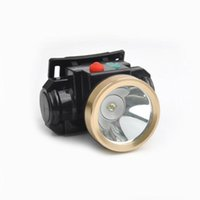 Wholesale Cordless Mining Cap Lamps - Wholesale-3W Mining Miners LED hadlamp lithium battery cordless miners cap lamp headlight for working Camping Hiking Hunting