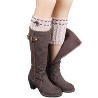 Wholesale N9 Cover - Wholesale-Hot marking 1 Pair Knitted Leg Warmers Socks Boot Cover N9