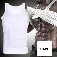 Wholesale Natural Weight Lost - Compression Tank Tops shapewear mens waist trimmer Vest slimming corset for men Belly Fatty lose weight Underwear body shapers