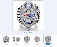 Wholesale England Patriots - (More than 20pcs DHL free shipping) New Arrived 2016 - 2017 England Patriots Super Bowl Championship Rings AAA+