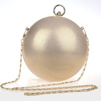 Wholesale Cute Women Nudes - Wholesale- Cute Funny Bags Round Spherical Evening Clutch Bag Bridal Wedding Clutch Purse Fashion Ball Chain Hand Bag Shoulder Bag XA1170A