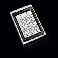 système de clé de carte achat en gros de-Gros-électronique rfid système de contrôle d'accès de porte RFID Proximité Inoxydable métal étanche contrôleur d'accès Présenté 10 cartes-clés
