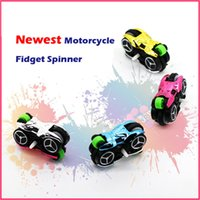 Wholesale Smallest Motorcycle Toy - Newest Style Interesting Fidget Hand Spinner 4 in 1 Small Motorcycle Hand Spinner Spinner Standing High Speed Advance Good Children Gift toy