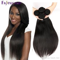 VENDRE CHAUD! Vente en gros Fastyle Péruvienne Straight Hair Extensions Non Traité Brazilian Malaysian Indian Virgin Human Hair Bundles 4pc / lot