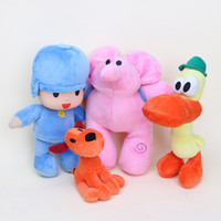 Vente en gros- Anime POCOYO Cartoon Peluches Peluches Jouets Loisirs Loula Elly Pato peluche 3styles