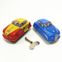 mini colección de coches de juguete al por mayor-Venta caliente Mini juguetes de relojería de hierro en la cadena de colección creativa de regalos finos