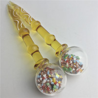 Wholesale Nail Ball Tool - New 5 Inch Glass Dabber Wax Dab Tool Colorful Ball Carb Cap Dabber for Quartz Banger Nail Glass Bong Water Pipes