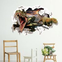 Wholesale cm D dinosaur PVC Wall Decal Adhesive and removable Cartoon Wall Stickers Wallpaper Mural Art Home Decor Accessory