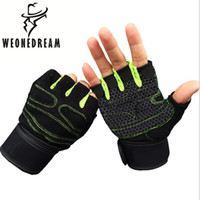 Wholesale Leather Fingerless Bicycle Gloves - Wholesale- 2017 New Arrival Unisex Gloves Men Women Protective Tactical Gloves Fingerless Bicycle Anti-Slip Gloves