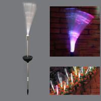 Wholesale color changing fiber optic lamp for sale - Group buy Fantastic Solar Power Color Change Fiber Optic LED Night Lamp for Garden Outside Yard Path patio decking flower beds driveway ZJ0332