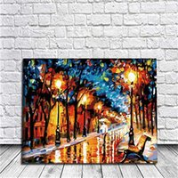 Wholesale Paint Art Work - Loneliness Diy Oil Painting By Numbers Kits Wall Art Painting Home Decor Acrylic Painting On Canvas For Work Of Art 40x50cm