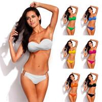 sıcak kadınlar uygun yeni toptan satış-Yeni Sıcak Push Up Bikini Brezilyalı Biquini Mayolar Mayo Kadınlar Seksi Bikini Set Mayo Yüzmek takım maillot de ba