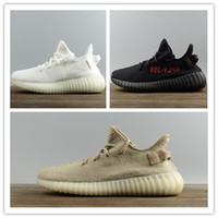 Wholesale Oxford Free - Original 2017 SPLY-350 Boost V2 New Kanye West Boost 350 V2 SPLY Running Shoes Zebra 350 v2 Boost Oxford Tan Free