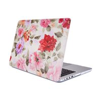 Wholesale Tablet Case Stickers - 2017 Laptop Case Case Rose PC Case for MacBook Sticker for Macbook TPU + PC beautiful pattern Notebook sleeves Silicone tablet cases Macbook