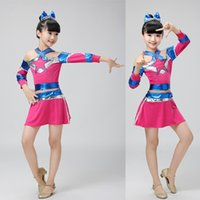 Wholesale Kids Aerobics - Children Adults Cheerleading Costume Girls Aerobics Dance Skirt Boys and Girls Cheerleading cloth Kids Performance dancinig costumes Outfits