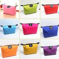 Wholesale Clutch Type Purse - Candy Cute Women's Lady Travel Makeup Bags Cosmetic Bag Pouch Clutch Handbag Casual Purses Dumpling Type Cosmetic Gift Purse Fast Shipping