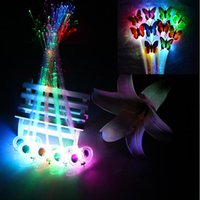 LED Hair Light Headwear Braid Flash Braid Luminous Hairpin Headdress Masquerade Festival Props Light Fibra óptica lâmpada Hair Pigtail