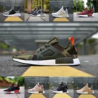 Wholesale Green Slip Shoes - NMD Runner PK Running Shoes Men Women Mesh Boost 2017 Cheap Sports Shoes Free Shipping Size 5-10