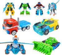 Wholesale Toy Bulldozers - Promotion Deformation Rescue Bots Action Figures Toys Optimus Bulldozer Helicopter Robots Gift for Boys