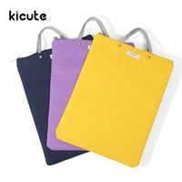 Wholesale Briefcase Metal - Wholesale- Kicute Simple Solid Oxford Canvas A4 Big Capacity Document Bag Business Briefcase Storage File Folder for Papers Stationery