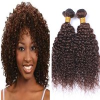 Wholesale chestnut brown hair weave for sale - Deep Wave Brown Hair Weft High Quality Products Deep Curly Chestnut Brwon Hair Weaves Peruvian Virgin Human Hair Weaves