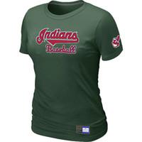 Wholesale Cheap Cotton Tees - Cheap Cleveland Indians Women Baseball T Shirt Short Sleeve Practice T-shirt wholesale Cotton Tees Shirts 14 Colors