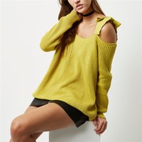 Wholesale Plus Size Off Shoulder Sweater - 2017 New Fashion Knitted Women Sweaters Sexy Solid Color Off Shoulder Long Sleeve Pullover Sweater Plus Size Lady Loose Tops Clothes