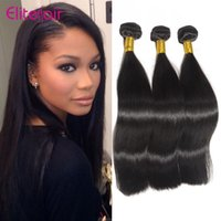Wholesale Straight Elite Hair - Wholesale-peruvian virgin hair straight 50g pcs 3 bundles elite hair company straight unprocessed tangle free peruvian virgin straight
