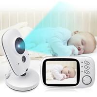 Wholesale Analog Lcd Monitor Inch - 3.2 inch LCD Wireless Video Baby Camera Monitor Night Vision Nanny Security Camera Temperature Monitoring VOX Babysitter Monitor VB603