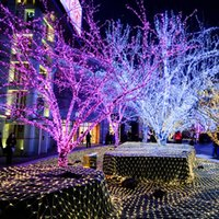 Wholesale Cross Christmas Led Lights - Wholesale Party Decoration Cross Net Curtain Lights Christmas Garden Decoration Light 400LED Lamp EU Plug LED Light Portable Lanterns