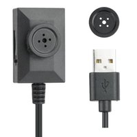 Wholesale Camcorder Video Cable - 1280*960P Mini Spy Button Camera HD Button MINI DV Camcorder With 2 Meters USB Cable 7 24 Hours Audio Video Loop Recording Black