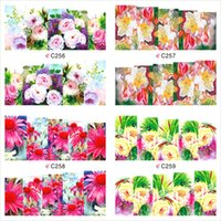Wholesale Peacock Nail Wraps - Wholesale- 12 Sheet Peacock Flower Design Watermark Beauty Nail Art Tips Sticker Full Wraps Water Transfer Stickers Decals For Nails JH369