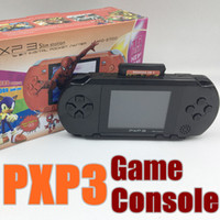 Wholesale Game Card Box - 2017 Hot selling 16 Bit Video Game Player PXP3 PXP Slim Station Pocket Game + Game Card + Retail Box A-YXJ