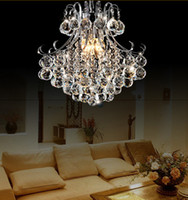 Wholesale Ceiling Light Chrome Modern - Luxury Crystal Chandelier Lamp Indoor Pendant light Ceiling light Crystal Pendant Chandelier Lamp dia 33cm 45cm 55cm