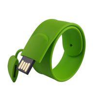 pulseiras de movimentação usb venda por atacado-Novo 2.0 Silicone Pulseira de Pulso Bonito Usb Flash Drive 128 GB Pendrive 64 GB 16 GB 32 GB Pen Drive Presente Memory Stick Mini Ke 16 GB usb flash drive