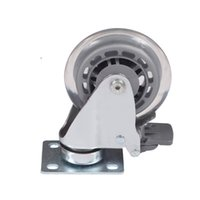 Wholesale Chair Casters Wheels - flat furniture caster Medical bed chair nylon universal instrument caster with brake chair swivel Medical Equipment wheel