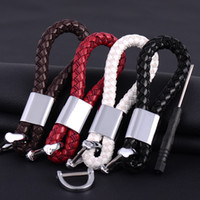 Wholesale Solid Silver Rings Men - Zinc alloy PU leather solid model bag women accessories unisex keychains propeller charm popular car home man key rings hang creative gift