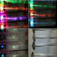 Wholesale Big Kid Night Light - Luminous Light Up LED Hair Extension Flash Braid Party Girl Hair Glow by Fiber Optic For Party Christmas Halloween Night Lights Decoration