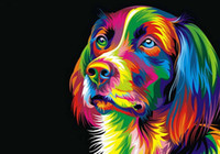 Wholesale Dog Pictures - Home Office Decoration Living Room Abstract Art Wall Decor HD Prints Animal Color Dog Oil Painting Pictures Printed On Canvas