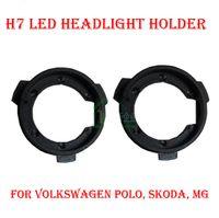 Wholesale Vw Touran Wholesale - 2PCS H7 LED Headlight Conversion Kit Bulb Base Holder Adapter Retainer Socket Clip For VW POLO Tiguan Touran Lavida Sharan Lamando Octavia