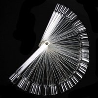 Wholesale Fiberglass Shaping - Wholesale- 50psc Tips Clear Fan-shaped Nail Art Display Chart False Fake Nail Design