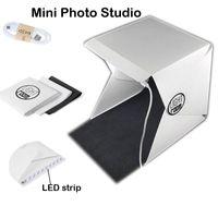 Wholesale Light Cubes Photography - New Mini lighting rooom Foldable Lightbox Portable Lighting Room Photo Studios Photography Backdrop Mini Cube Box led light Tent Kit