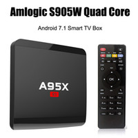 Wholesale a7 android tv for sale - A95X R1 S905W TV Box Android Quad core Cortex A7 G G K K G WiFi HDMI More APPs Smart OTT Media Player