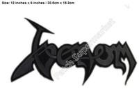 "Wholesale sticker punk - 12"" XL LARGE VENOM BLACK METAL Jacket BACK Patches 30cm stickers band music t shirt transfer badge punk rock party favor"