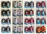 32776a72c Mighty Ducks Blank 8 Teemu Selanne 9 Paul Kariya 13 Teemu Selanne 35  Jean-Sebastien Giguere Purple CCM Throwback Ice Hockey Cheap Jerseys ...