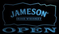 Wholesale Jameson Whiskey Lights - LS706-b-Jameson-Irish-Whiskey-OPEN-Bar-Neon-Light-Sign.jpg Decor Free Shipping Dropshipping Wholesale 6 colors to choose
