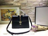 Wholesale Web Brands - Famous Brand Saddle Shoulder Bag Cowhide Women's Genuine Leather Broadway Handbag GC#10 Shoulder Bags Lady Web Brand 431665 With Straps