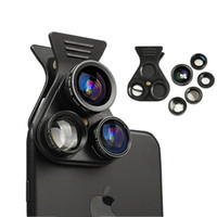 Cell Phone Camera Lens Kit 5in1 Professional HD Camera Lens 2.5X Telephoto Len 180 ° Fisheye 0.62X Wide Angle 15X Macro Len